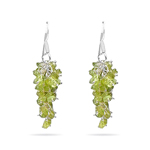 Peridot Earrings in Silver - Hand Made