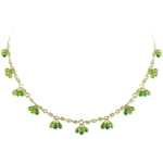 18.88 Cts Peridot Necklace in 18K Yellow Gold