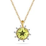 Peridot Pendant - 0.10 Cts Diamond & 2.60 Cts Peridot Star Pendant