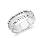 Silver Jewelry - Silver Rotating Ring Band