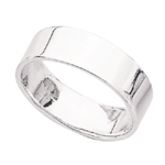 Flat Ring Band in Sterling Silver