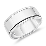 Silver Jewelry - Silver Spinner Ring Band