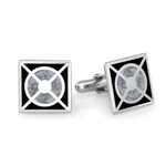 Square Men's Cufflinks in Sterling Silver