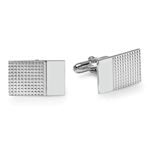 Emerald Men's Cufflinks in Sterling Silver
