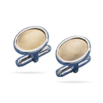 Cufflinks in Sterling Silver & 18K Yellow Gold