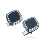 Faux Onyx Cufflinks in Sterling Silver