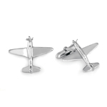 Aeroplane Cufflinks in Sterling Silver