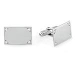 Diamond Cufflinks in Sterling Silver