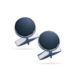 Cuff Links- Sterling Silver Onyx Cuff Links