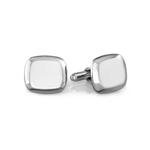 Cushion Cufflinks in Sterling Silver