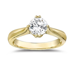 Diamond Engagement Ring Setting in 14K Yellow Gold
