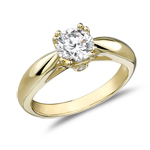 Diamond Engagement Ring Setting in 14K Yellow Gold