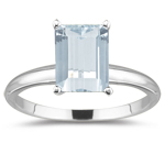 0.33 Cts Diamond & 6.87 Cts Sky Blue Topaz Three Stone Ring in 14K White Gold