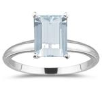 0.33 Cts Diamond & 2.23 Cts Sky Blue Topaz Three Stone Ring in Platinum