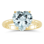 2.93 Cts Sky Blue Topaz Solitaire Ring in 18K Yellow Gold