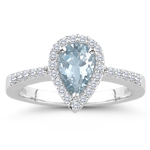 0.25 Cts Diamond & 3.18 Cts Sky Blue Topaz Ring in Platinum