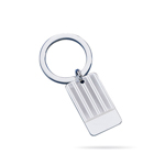 Key Ring - Sterling Silver Engine Turned Key Ring