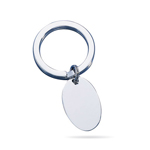 Key Ring - Sterling Silver Plain Polish Key Ring
