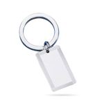 Striped Border Engine Turned Key Ring in Sterling Silver