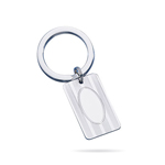 Striped with Oval-Center Engine Turned Key Ring in Sterling Silver