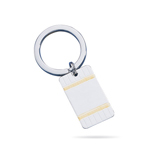 Key Ring - Sterling Silver Key Ring with Gold Accents