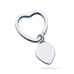 Key Ring - Sterling Silver Heart Key Ring