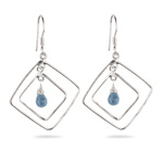 Sky Blue Topaz Briolette Earrings in Sterling Silver