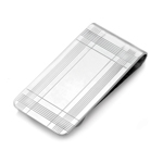 Lined with Rectangle-Center Money Clip in Sterling Silver