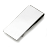 Smooth Finished Broad Money Clip in Sterling Silver