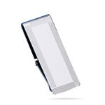 Striped Border Engine Turned Money Clip in Sterling Silver