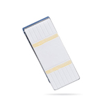 Two-Tone Bold Rectangle Money Clip in Sterling Silver w/ Gold Accents