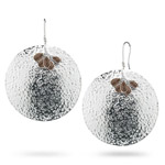 7.25 Cts Smokey Quartz Earrings in Sterling Silver
