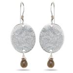 2.00 Cts Smokey Quartz Earrings in Sterling Silver