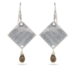 1.50 Cts Smokey Quartz Earrings in Sterling Silver