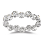 0.50-0.55 Cts  SI2 - I1 clarity and I-J color Diamond Stack Band in 14K White Gold