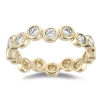0.50-0.55 Cts  SI2 - I1 clarity and I-J color Diamond Stack Band in 14K Yellow Gold