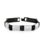 Men's Black Steel Bracelet in Stainless Steel