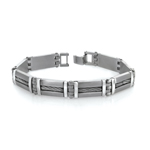 Men's Braided Bracelet in Stainless Steel