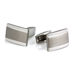 Men's Breasted Cufflinks in Stainless Steel