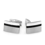 Men's Cufflinks in Carbon Fiber and Stainless Steel