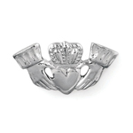 Claddagh Tie Tack in Sterling Silver