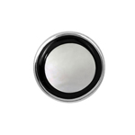 Onyx and Mother of Pearl Tie Tack in Sterling Silver