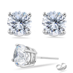Your Own Beautiful Diamond Stud Earrings in 18K White Gold