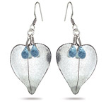 4.00 Cts Swiss Blue Topaz Earrings in Sterling Silver