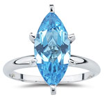 4.50 Ct 15x7 mm AA Marquise Swiss Blue Topaz Solitaire Ring -14KW Gold