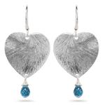 1.20 Cts Swiss Blue Topaz Earrings in Sterling Silver
