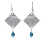 1.50 Cts Swiss Blue Topaz Earrings in Sterling Silver