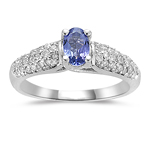 Tanzanite Ring - 1/3+ Ct Diamond & Tanzanite Ring in 14K Gold