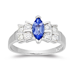 Tanzanite Ring - 2/5+ Ct Diamond & Tanzanite Ring in 14K Gold