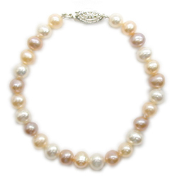 6.0 mm Fresh Water Pearl Bracelet in Silver